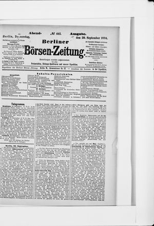 Berliner Börsen-Zeitung vom 20.09.1894