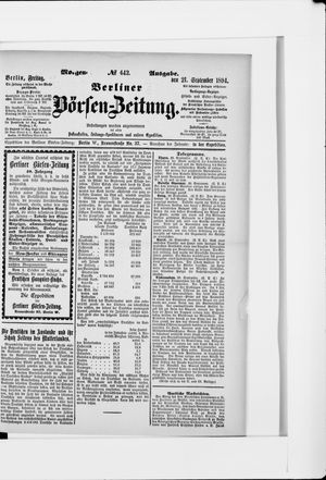 Berliner Börsen-Zeitung vom 21.09.1894