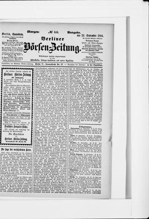 Berliner Börsen-Zeitung vom 22.09.1894