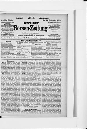 Berliner Börsen-Zeitung vom 24.09.1894