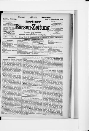 Berliner Börsen-Zeitung vom 25.09.1894