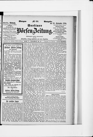 Berliner Börsen-Zeitung vom 26.09.1894