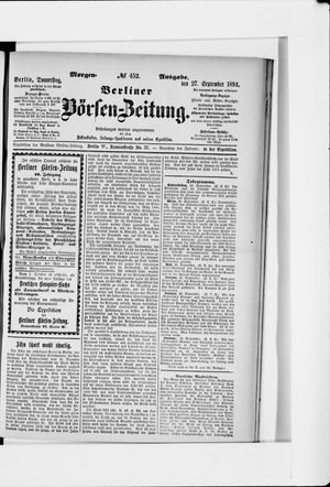 Berliner Börsen-Zeitung vom 27.09.1894