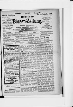 Berliner Börsen-Zeitung vom 29.09.1894