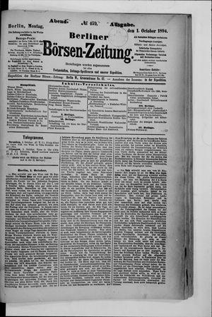 Berliner Börsen-Zeitung vom 01.10.1894
