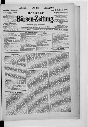 Berliner Börsen-Zeitung vom 02.10.1894