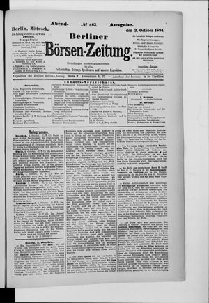 Berliner Börsen-Zeitung vom 03.10.1894