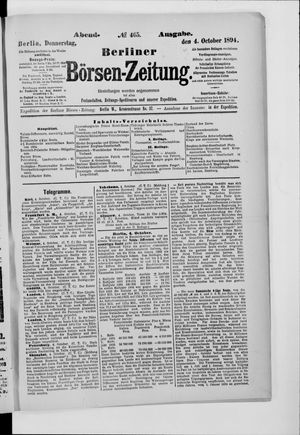 Berliner Börsen-Zeitung vom 04.10.1894