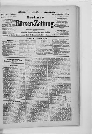 Berliner Börsen-Zeitung vom 05.10.1894