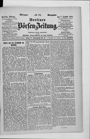 Berliner Börsen-Zeitung vom 07.10.1894