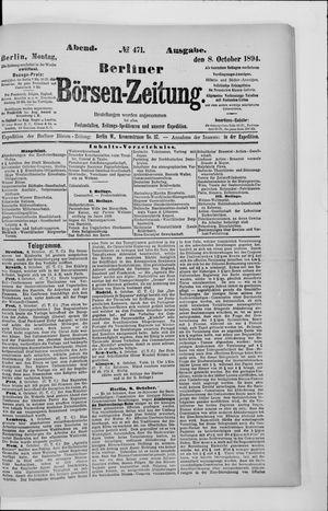 Berliner Börsen-Zeitung vom 08.10.1894