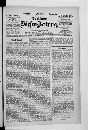 Berliner Börsen-Zeitung vom 09.10.1894