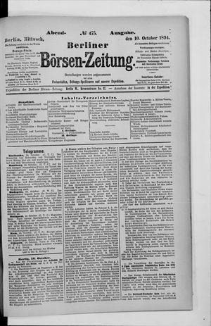 Berliner Börsen-Zeitung vom 10.10.1894