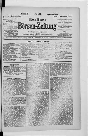 Berliner Börsen-Zeitung vom 11.10.1894