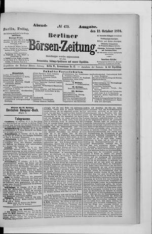 Berliner Börsen-Zeitung vom 12.10.1894