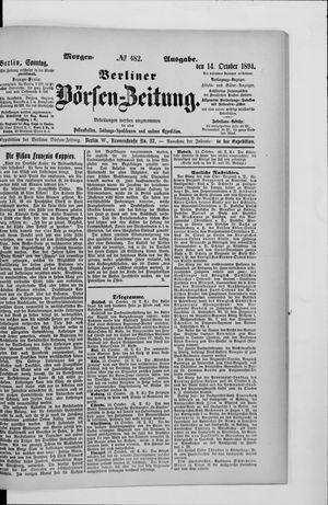 Berliner Börsen-Zeitung vom 14.10.1894