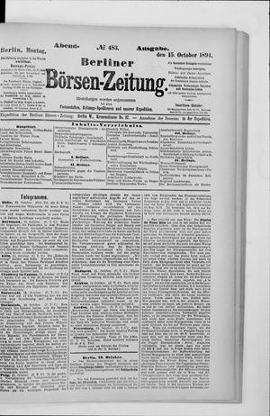 Berliner Börsen-Zeitung vom 15.10.1894