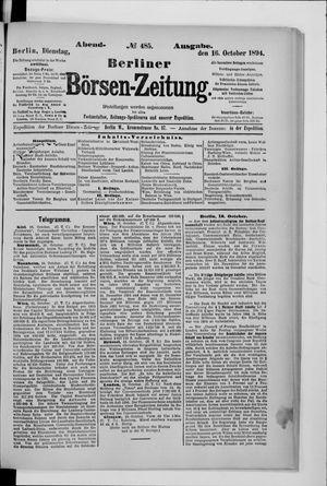 Berliner Börsen-Zeitung vom 16.10.1894
