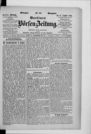 Berliner Börsen-Zeitung vom 17.10.1894