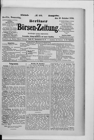 Berliner Börsen-Zeitung vom 18.10.1894