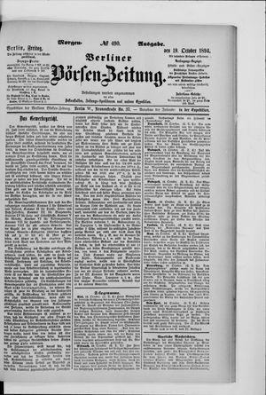 Berliner Börsen-Zeitung vom 19.10.1894