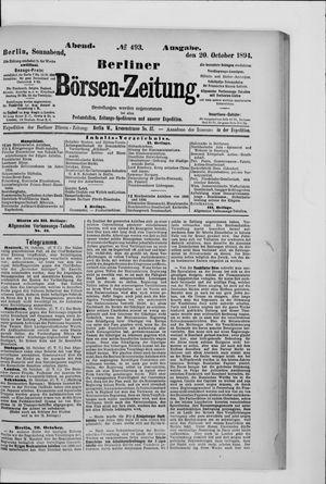 Berliner Börsen-Zeitung vom 20.10.1894