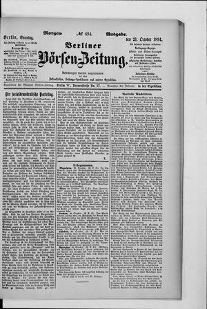 Berliner Börsen-Zeitung vom 21.10.1894