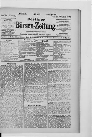 Berliner Börsen-Zeitung vom 22.10.1894