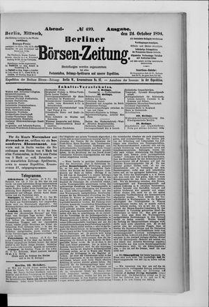 Berliner Börsen-Zeitung vom 24.10.1894