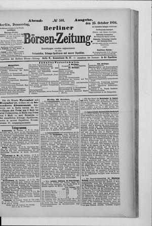 Berliner Börsen-Zeitung vom 25.10.1894