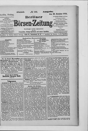 Berliner Börsen-Zeitung vom 26.10.1894