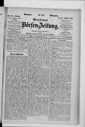 Berliner Börsen-Zeitung vom 28.10.1894