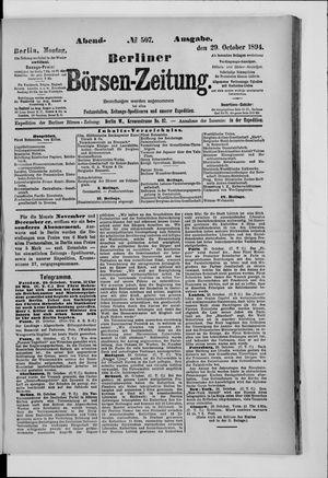 Berliner Börsen-Zeitung vom 29.10.1894