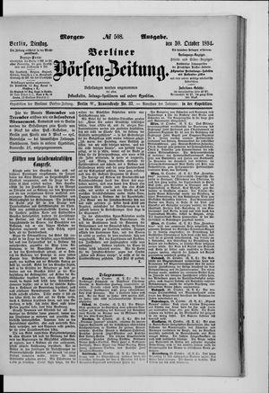 Berliner Börsen-Zeitung vom 30.10.1894