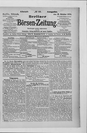 Berliner Börsen-Zeitung vom 31.10.1894