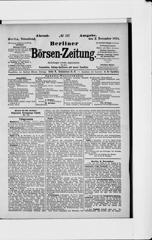 Berliner Börsen-Zeitung vom 03.11.1894