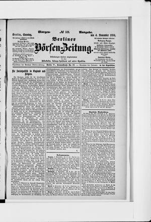 Berliner Börsen-Zeitung vom 04.11.1894