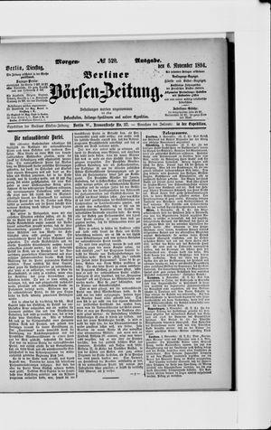 Berliner Börsen-Zeitung vom 06.11.1894