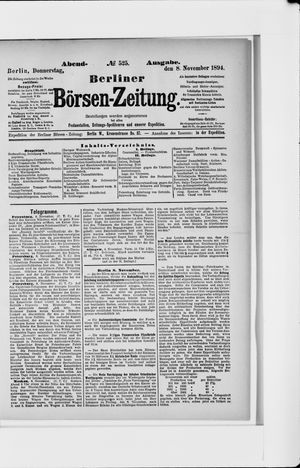 Berliner Börsen-Zeitung vom 08.11.1894