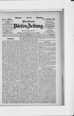 Berliner Börsen-Zeitung vom 09.11.1894