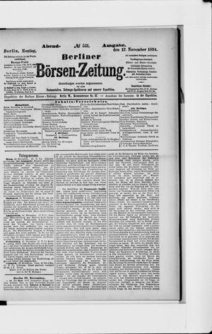 Berliner Börsen-Zeitung vom 12.11.1894