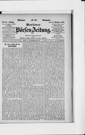 Berliner Börsen-Zeitung vom 13.11.1894