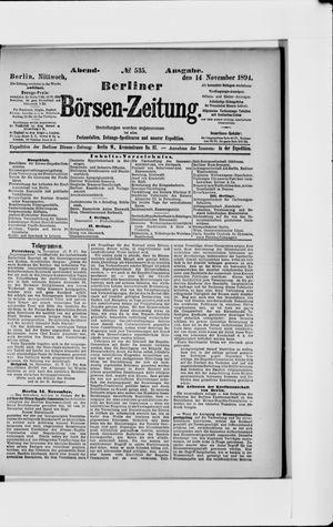 Berliner Börsen-Zeitung vom 14.11.1894
