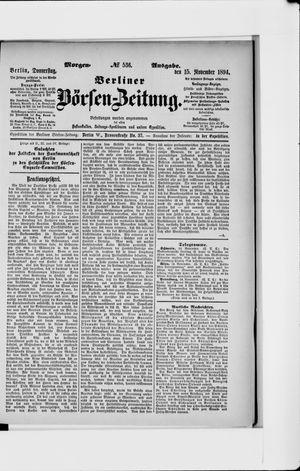 Berliner Börsen-Zeitung vom 15.11.1894