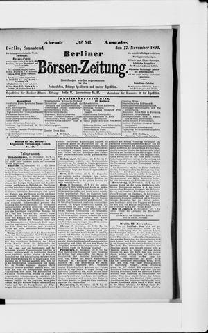 Berliner Börsen-Zeitung vom 17.11.1894