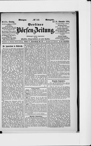 Berliner Börsen-Zeitung vom 18.11.1894