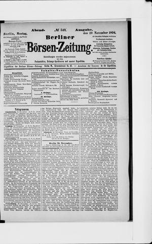 Berliner Börsen-Zeitung vom 19.11.1894