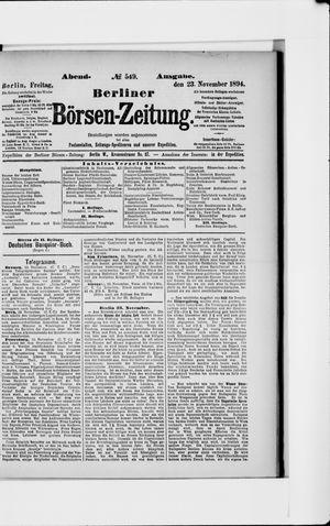 Berliner Börsen-Zeitung vom 23.11.1894