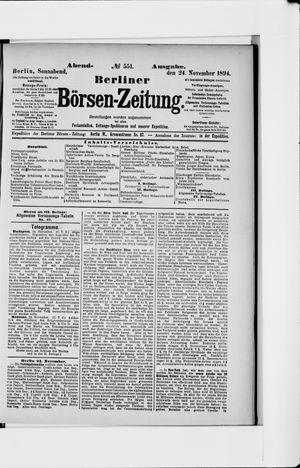 Berliner Börsen-Zeitung vom 24.11.1894