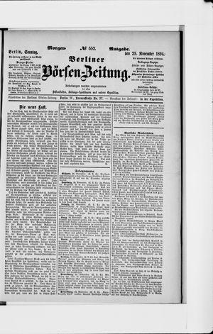 Berliner Börsen-Zeitung vom 25.11.1894